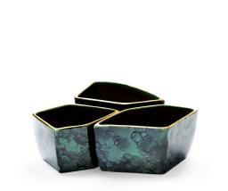 Aerin Lauder Malachite - Green Geo Bowl - Set of 3