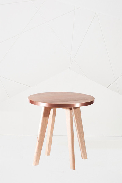 Calypso Side Table in copper from Koskela