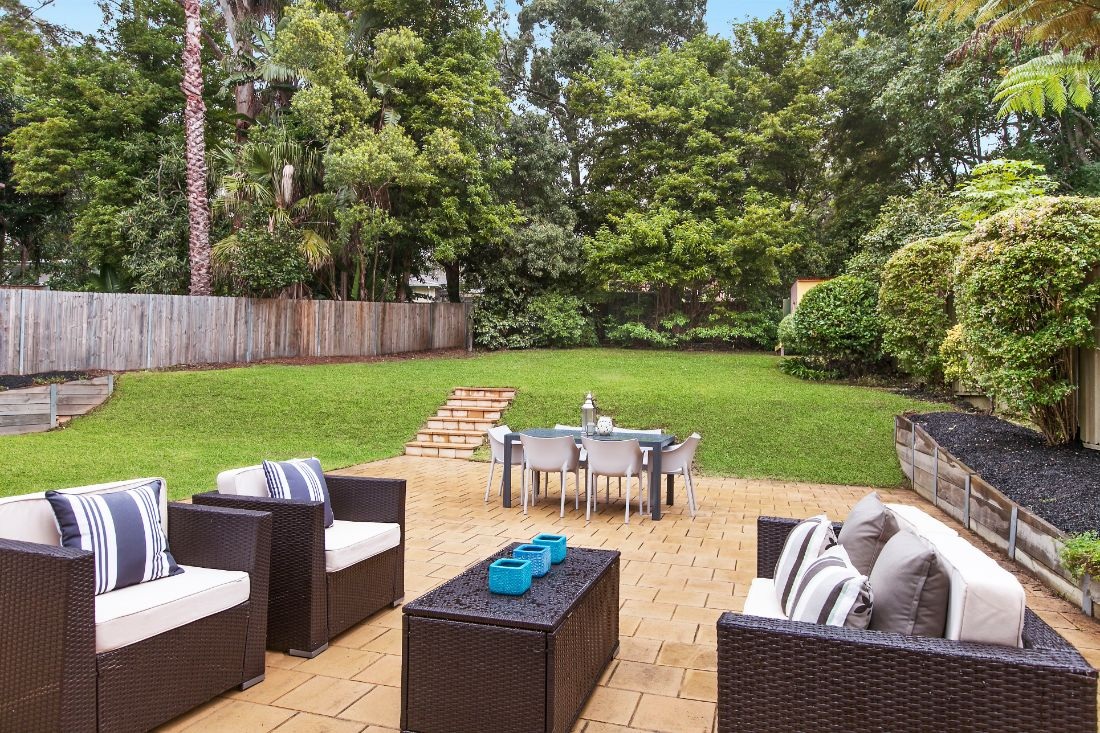 Turramurra property styling outdoor space