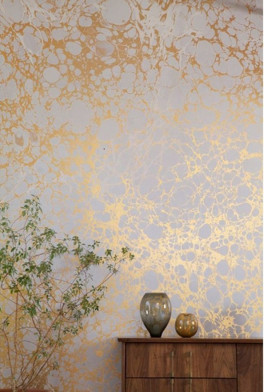 Banish Boring Walls With These Bold Ideas Metallic Wallpaper