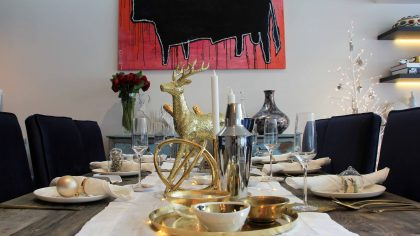 glam christmas property styling sydney