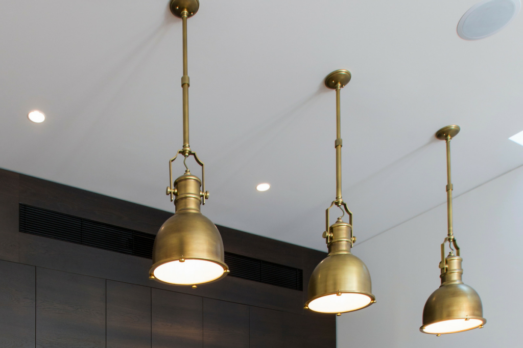 gold brass copper metallic light lighting property styling look