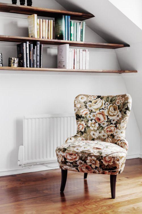 floral chair floral print